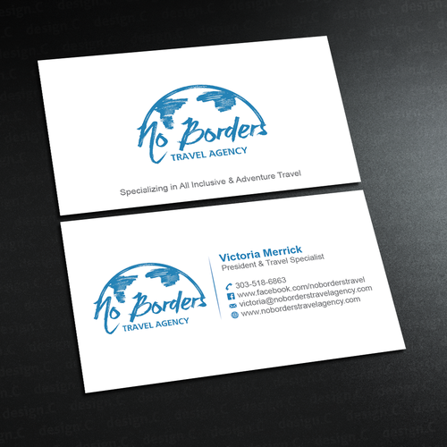 Create A Captivating Business Card For No Borders Travel Agency
