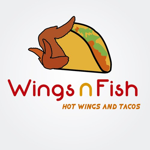 Wings n fish restaurant logo design logo design contest for Wings and fish