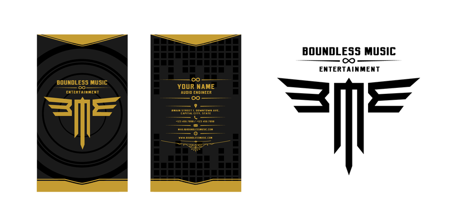Record Label Business Business Card For Record