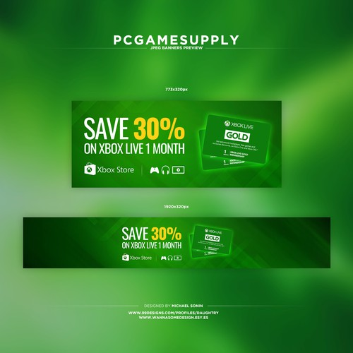Create Xbox Live Home Page Banner Banner Ad Contest 99designs