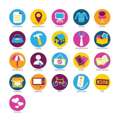 Create Category Icons For Marketplace App Icon Or Button