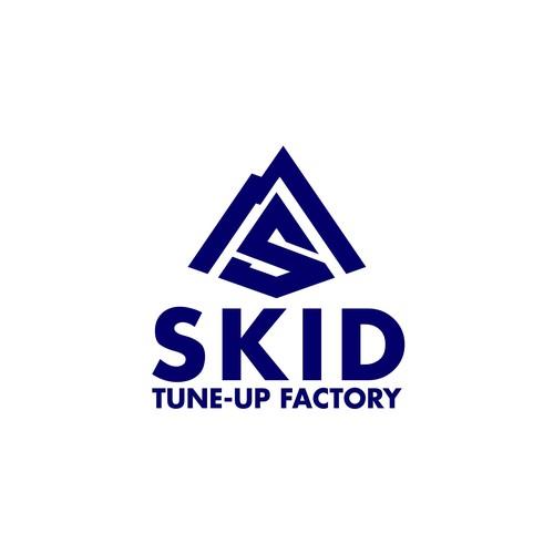 Mountain logo design for a ski tune-up factory