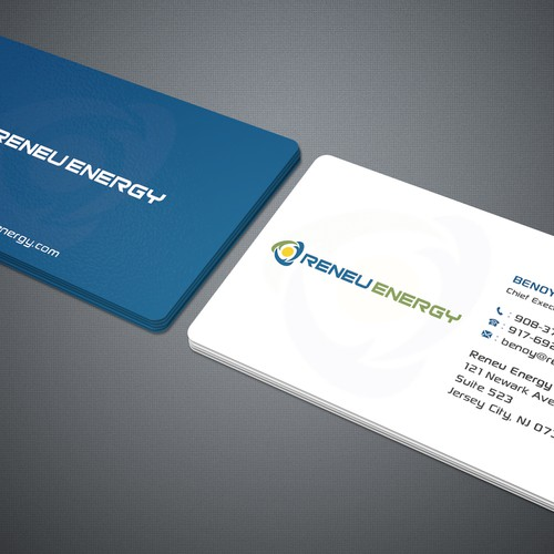 Creating a business card for renewable energy consulting firm that runner up design by deviserpark reheart