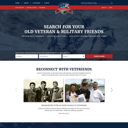 Design a U S  Veteran website for Trusted Company Reviews
