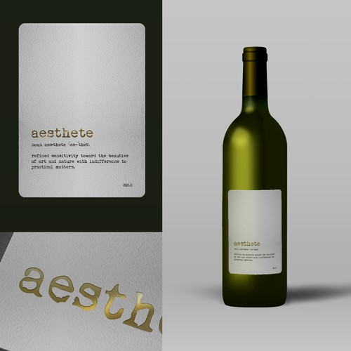 Minimalistic wine label needed Design by tenxdesign