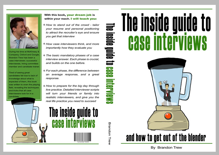 Cover design for a Case Interview book | Book cover contest