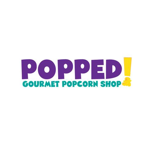 POPPED! a gourmet popcorn store logo. | Logo design contest