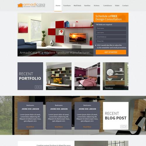 Custom furniture modern furniture website landing page for Best modern furniture websites