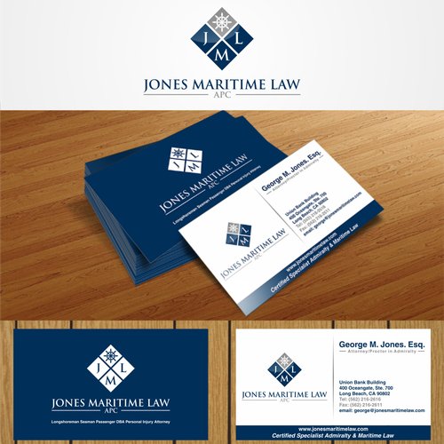 Create an attractive logo and business card for a maritime law firm runner up design by jajayshin colourmoves Images