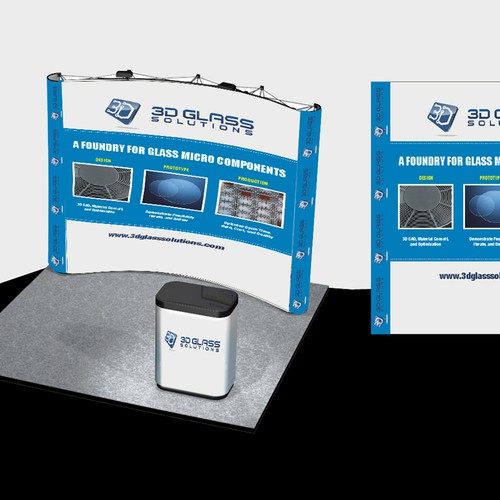 3D Glass Solutions Booth Graphic Design by king of king