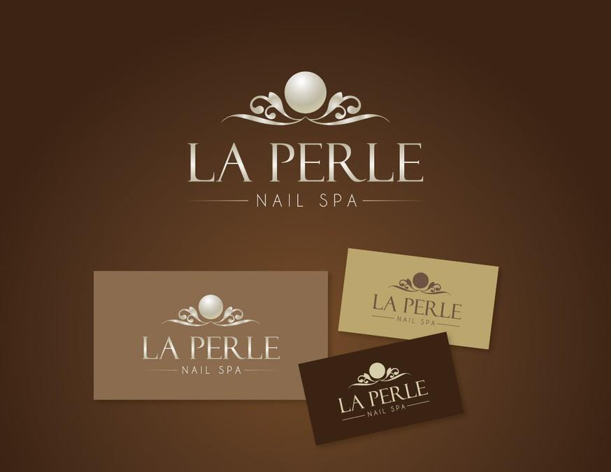 Logo for la perle nail spa logo design contest for Home decor logo 99 design contest