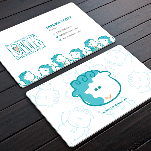 Create business card for luxury online baby boutique Design by Rose ❋