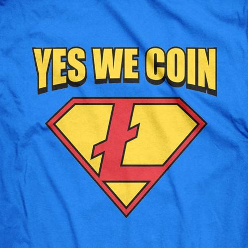 Superhero Logo But With The Litecoin Symbol