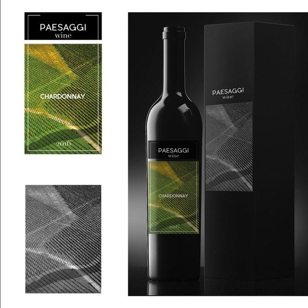 Etichetta Elegante Da Applicare Su Bottiglie Di Vino Elegant