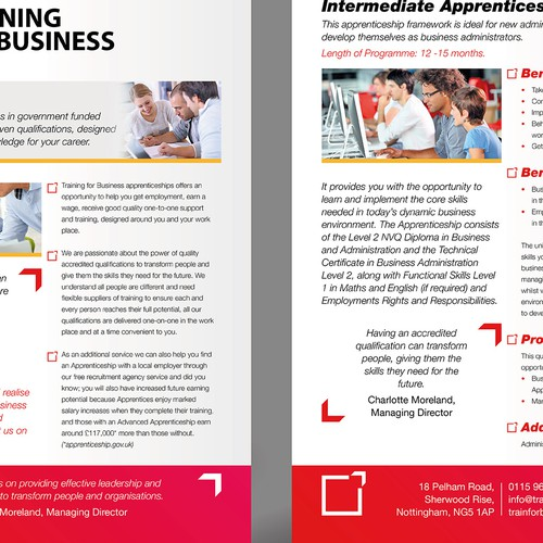 Flyer to be designed for Training Company - More design work