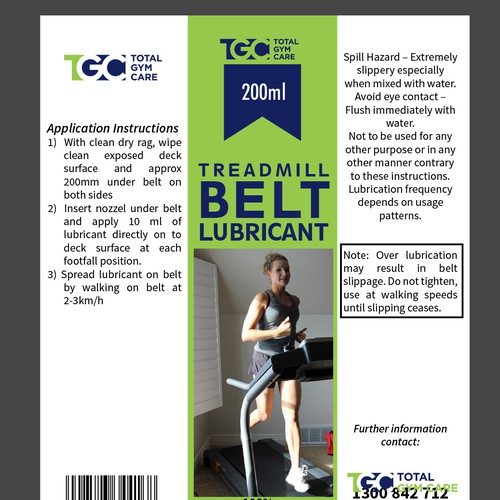 Treadmill Lubricant Instructions