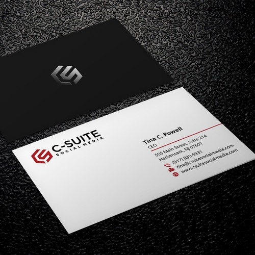 Design a modern business card for c suite social media business runner up design by xclusive16 reheart Choice Image
