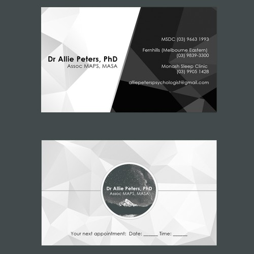 Business card for psychologist who loves art business card contest runner up design by christofer jon colourmoves