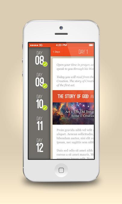 Winning design by CalmSpark App Design