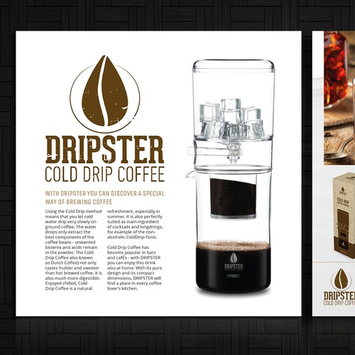 DRIPSTER Cold Drip Coffee Maker - we need a product presentation flyer Design by MagicCreatives
