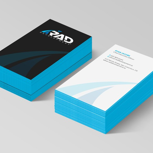 Design a software company business card you cant stop looking at runner up design by mirelas colourmoves
